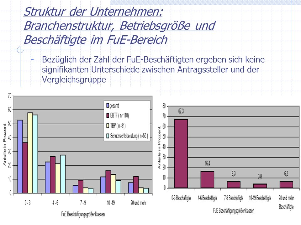Struktur der Unternehmen: Branchenstruktur, Betriebsgröße und Beschäftigte im FuE-Bereich