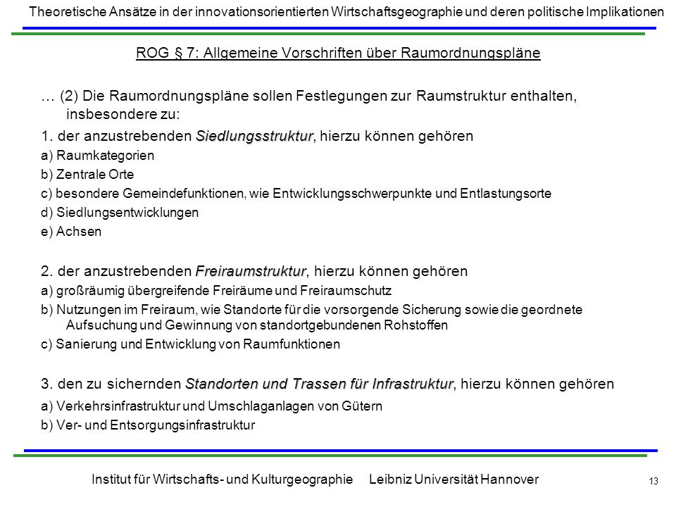 ROG § 7: Allgemeine Vorschriften über Raumordnungspläne
