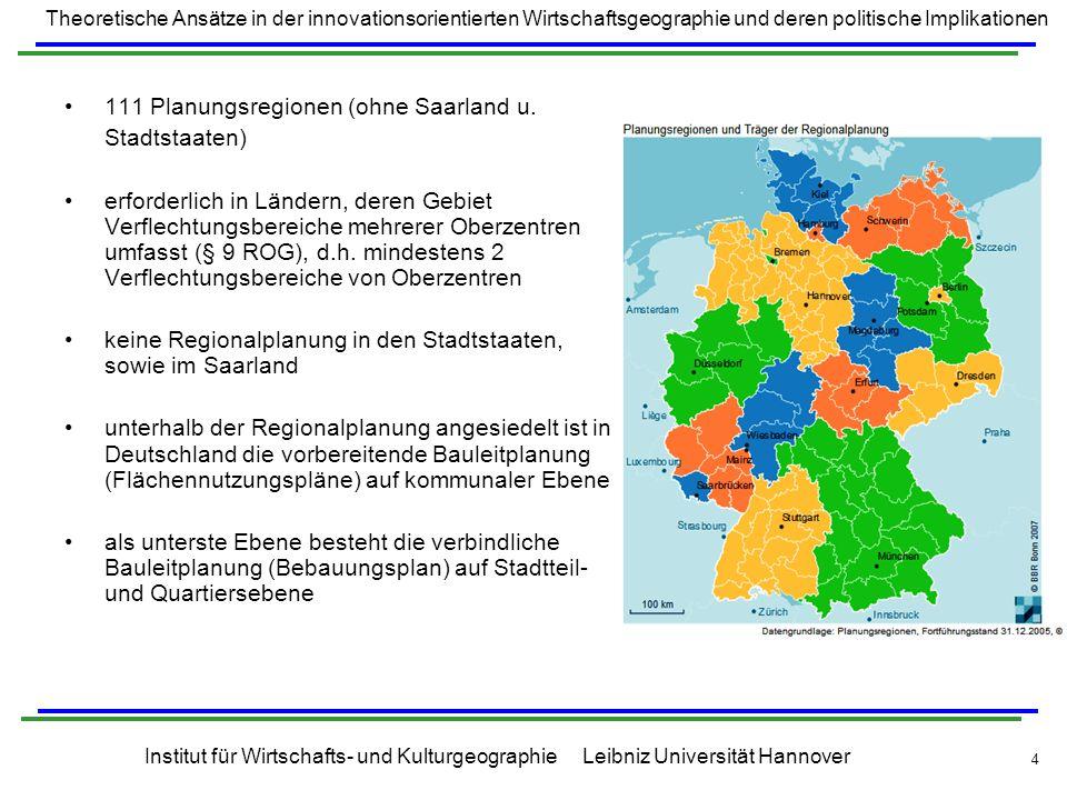 111 Planungsregionen (ohne Saarland u.