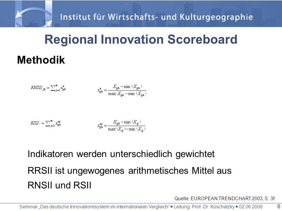 Regional Innovation Scoreboard