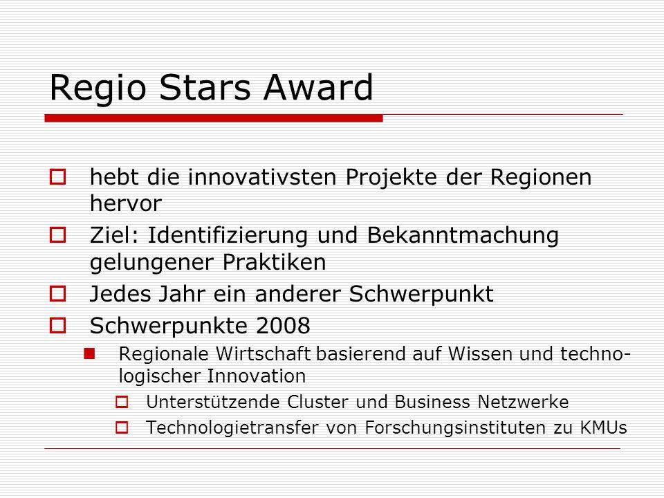 Regio Stars Award hebt die innovativsten Projekte der Regionen hervor