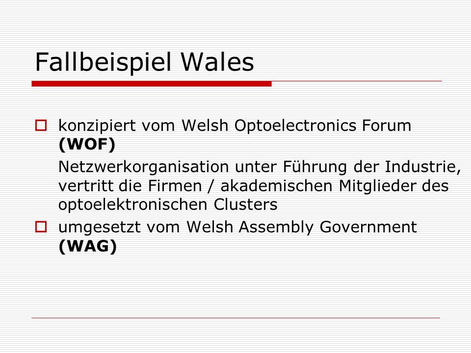 Fallbeispiel Wales konzipiert vom Welsh Optoelectronics Forum (WOF)