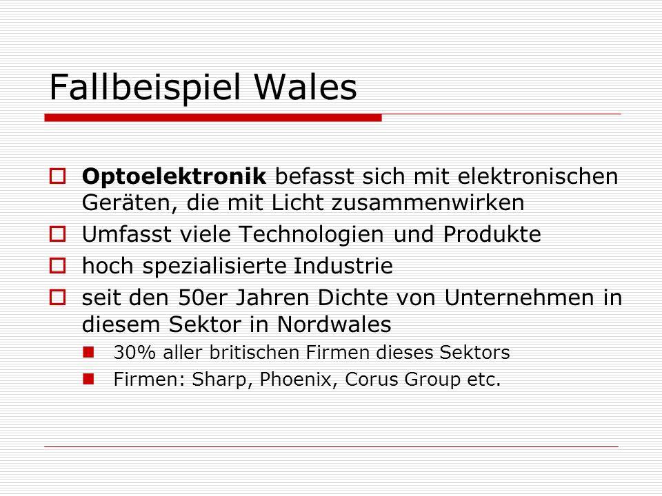 Fallbeispiel Wales Optoelektronik befasst sich mit elektronischen Geräten, die mit Licht zusammenwirken.