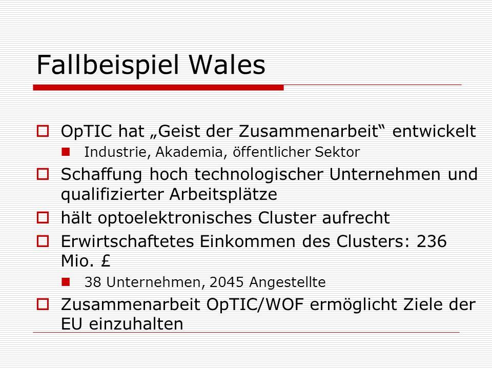 """Fallbeispiel Wales OpTIC hat """"Geist der Zusammenarbeit entwickelt"""