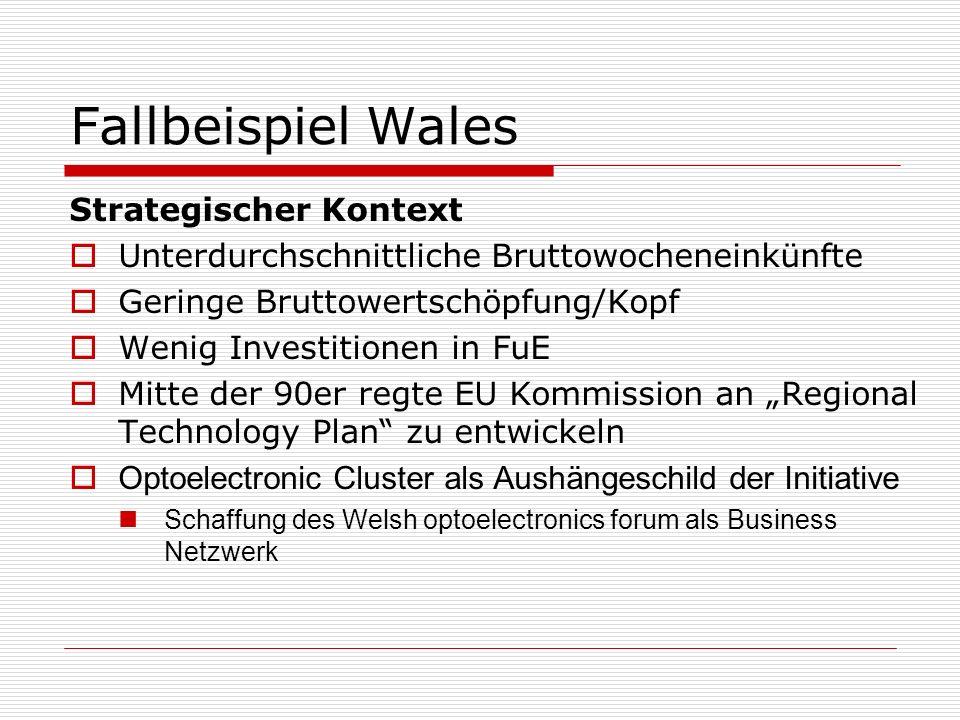 Fallbeispiel Wales Strategischer Kontext