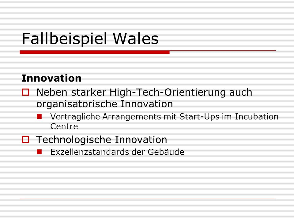Fallbeispiel Wales Innovation