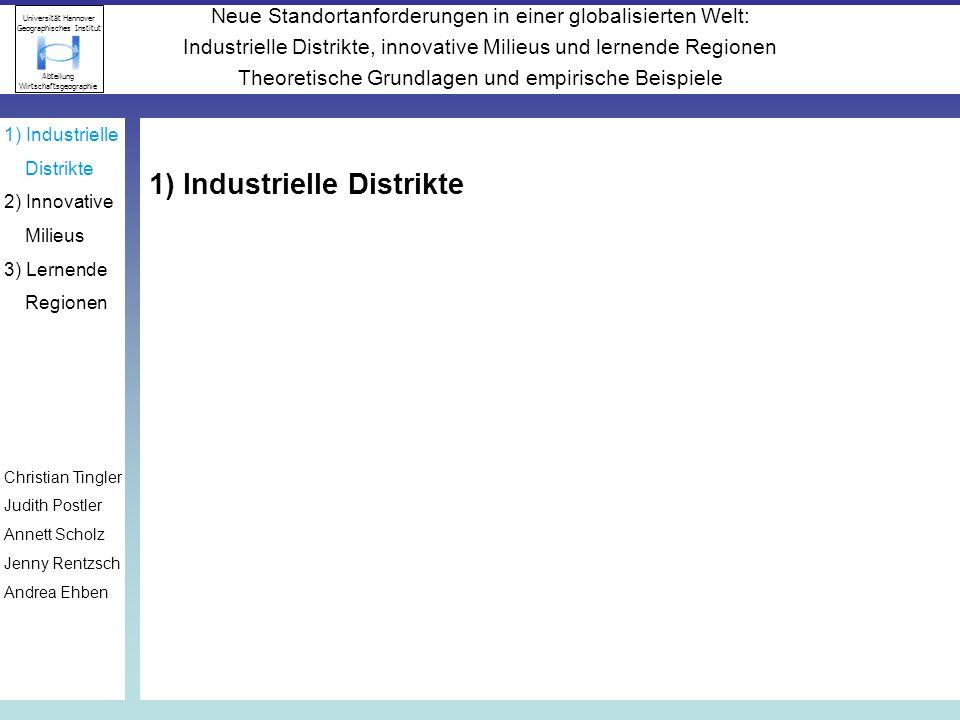 1) Industrielle Distrikte