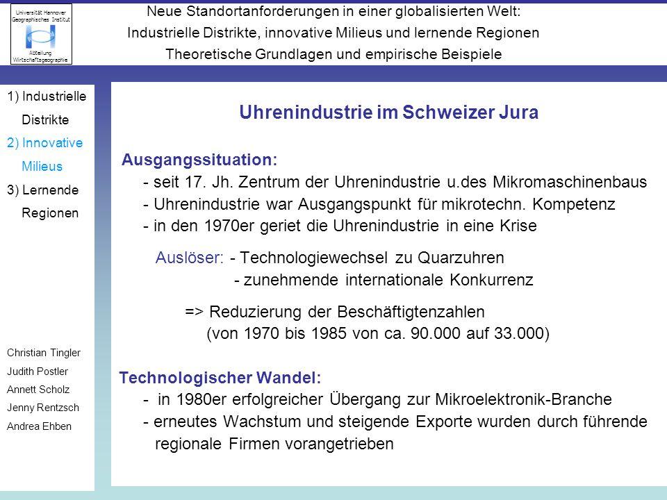 Uhrenindustrie im Schweizer Jura