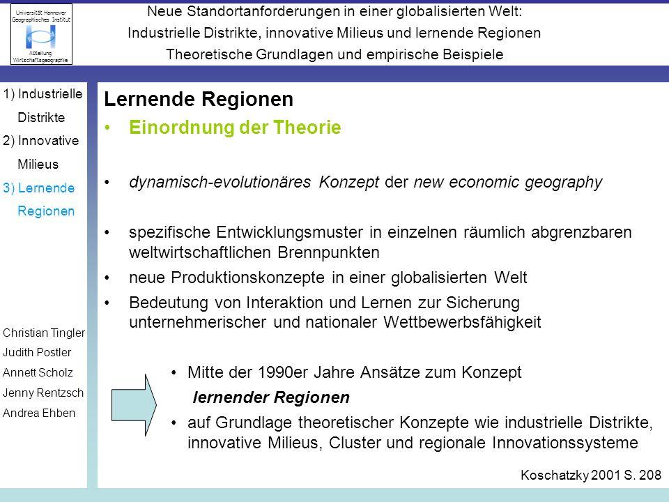 Lernende Regionen Einordnung der Theorie