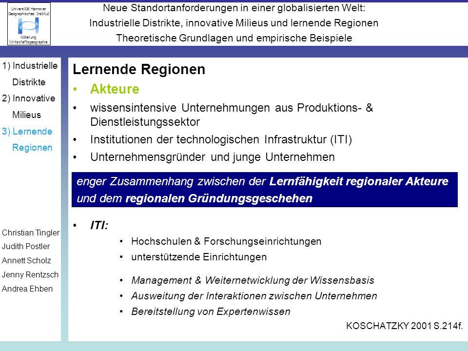 Lernende Regionen Akteure