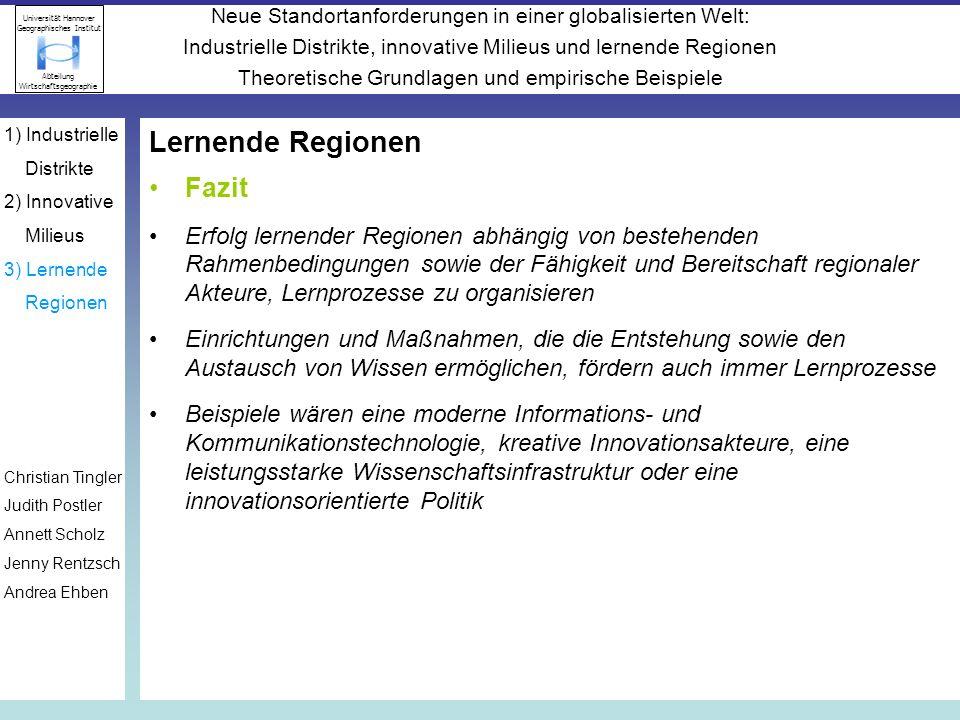 Lernende Regionen Fazit