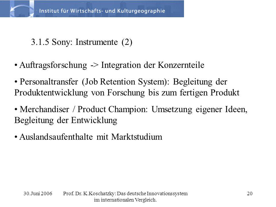 Auftragsforschung -> Integration der Konzernteile