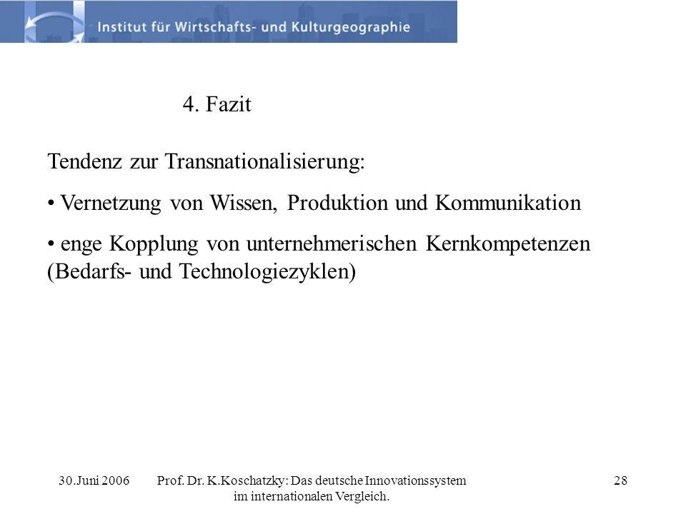 Tendenz zur Transnationalisierung: