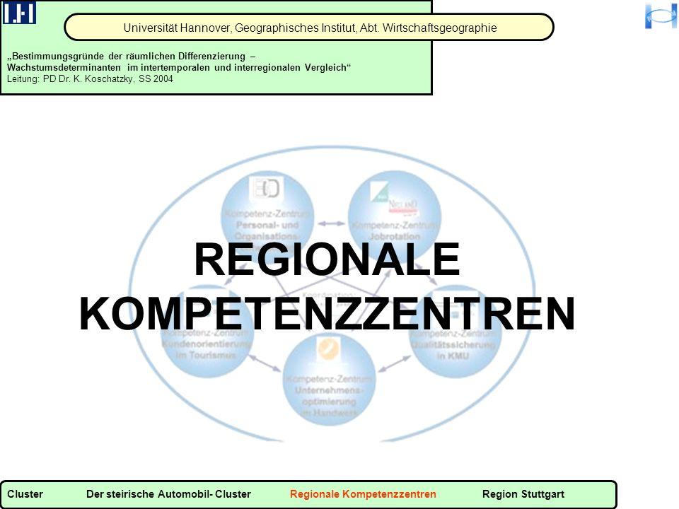 REGIONALE KOMPETENZZENTREN