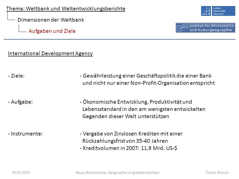 Dimensionen der Weltbank
