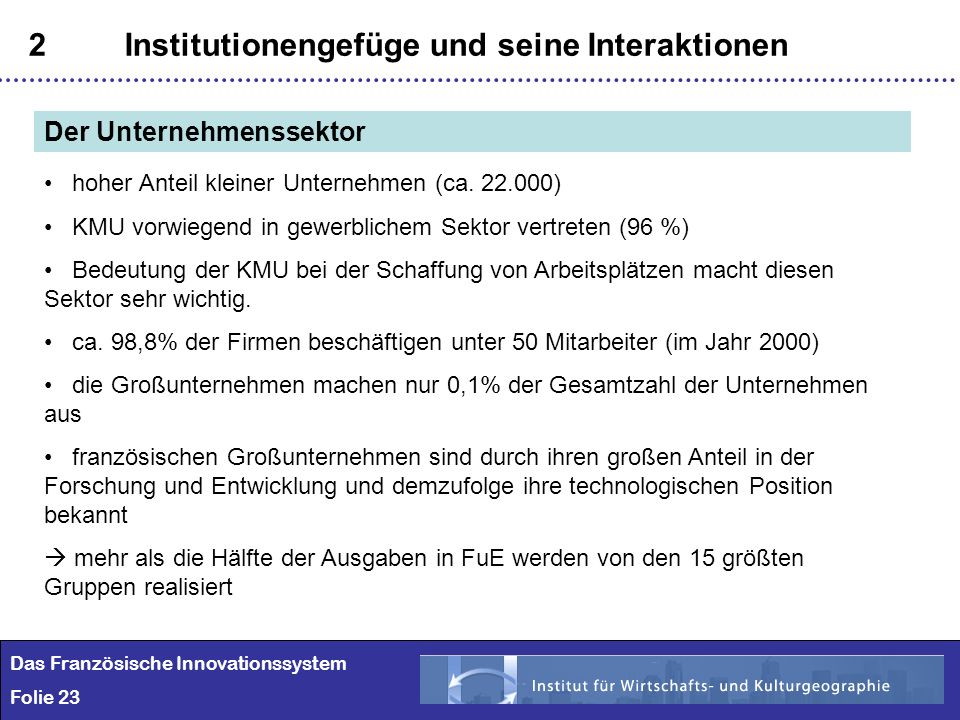 2 Institutionengefüge und seine Interaktionen