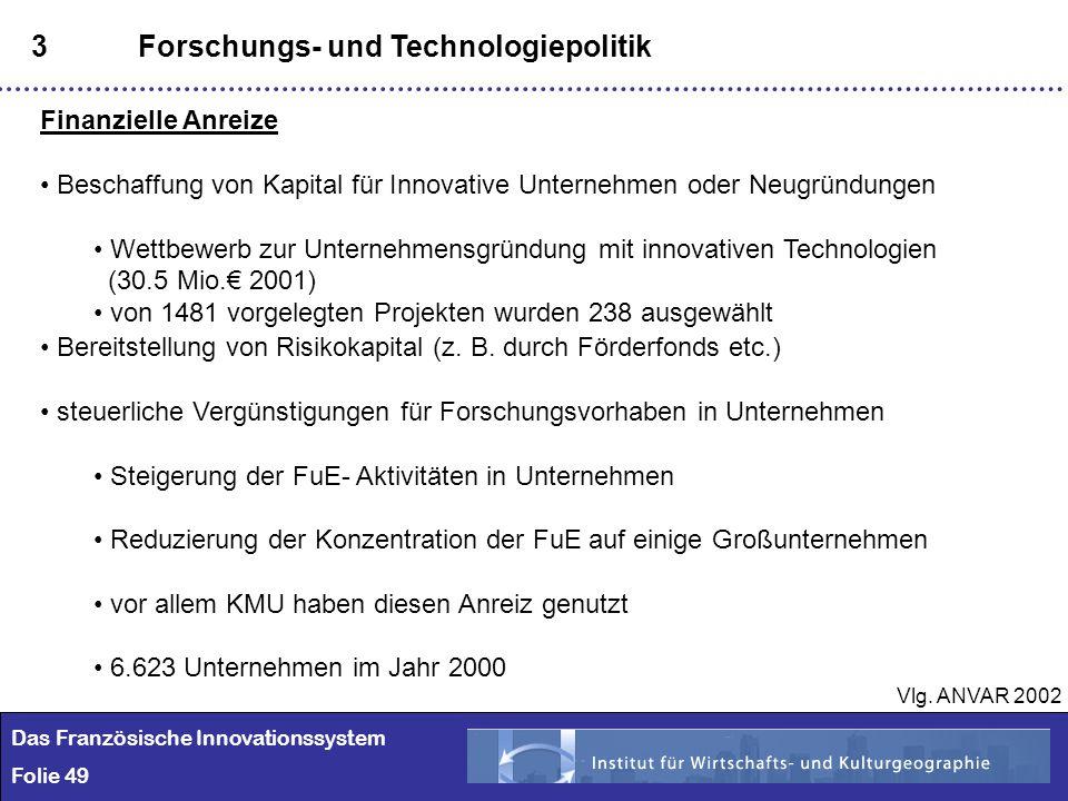 3 Forschungs- und Technologiepolitik