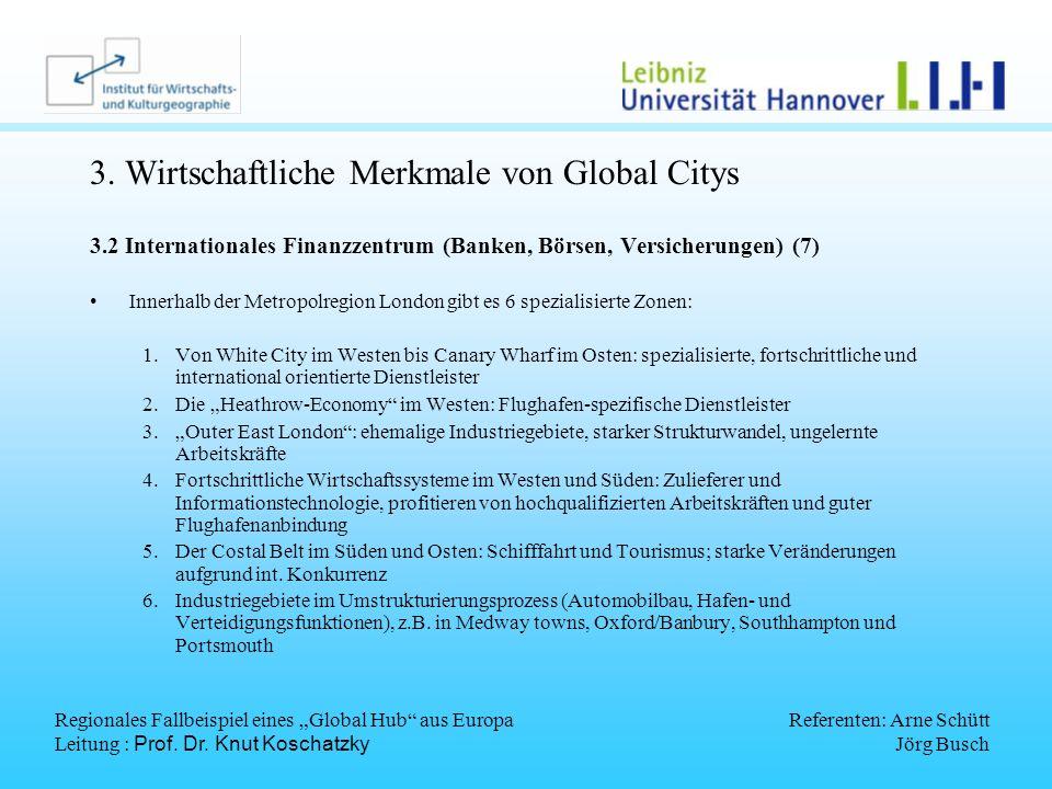 3. Wirtschaftliche Merkmale von Global Citys