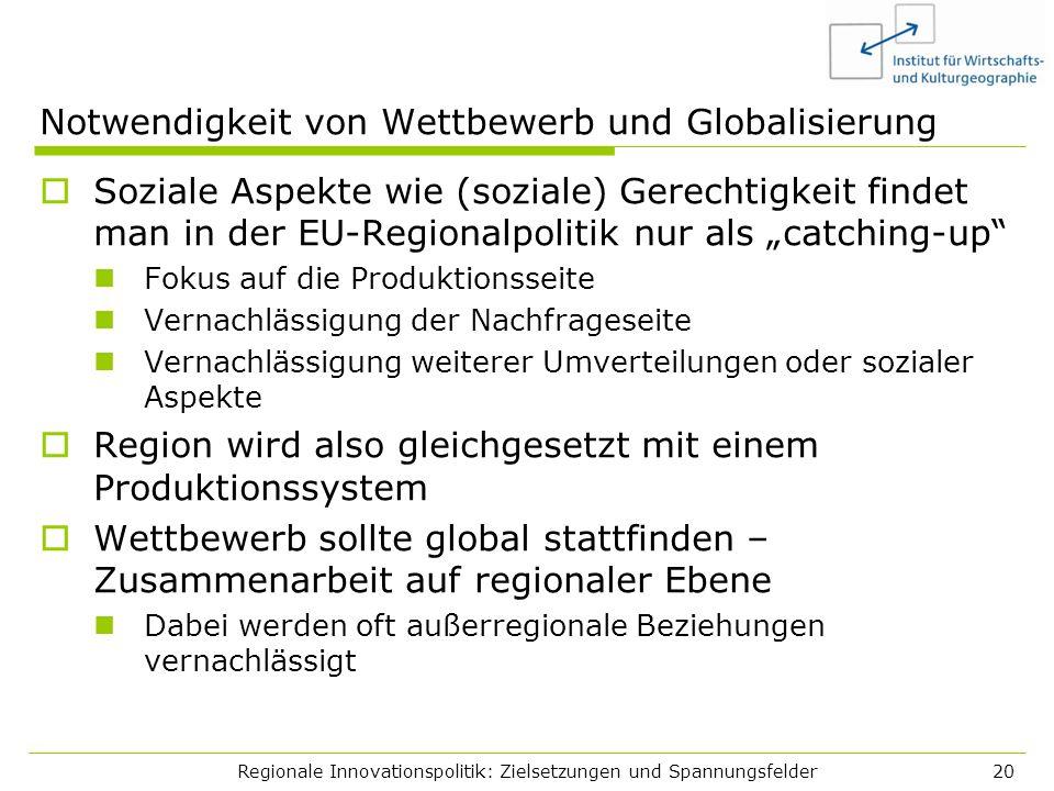 Notwendigkeit von Wettbewerb und Globalisierung