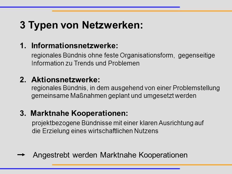 3 Typen von Netzwerken: Informationsnetzwerke: