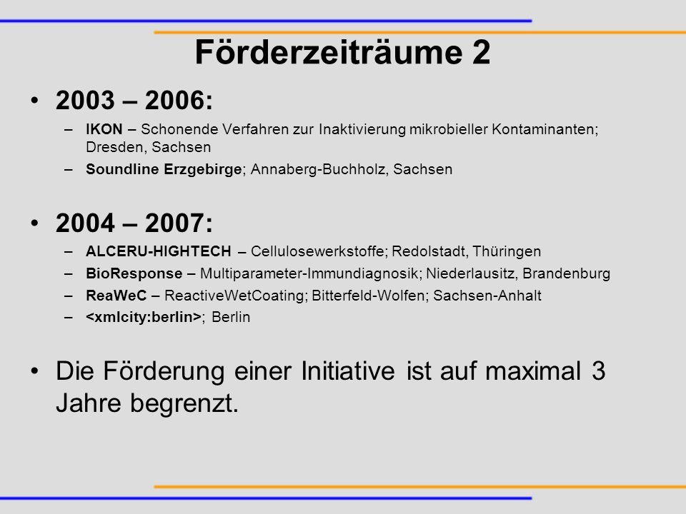 Förderzeiträume 2 2003 – 2006: IKON – Schonende Verfahren zur Inaktivierung mikrobieller Kontaminanten; Dresden, Sachsen.