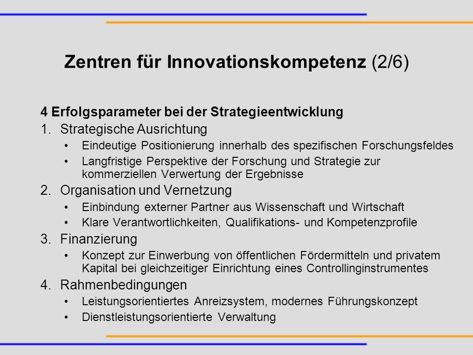 Zentren für Innovationskompetenz (2/6)
