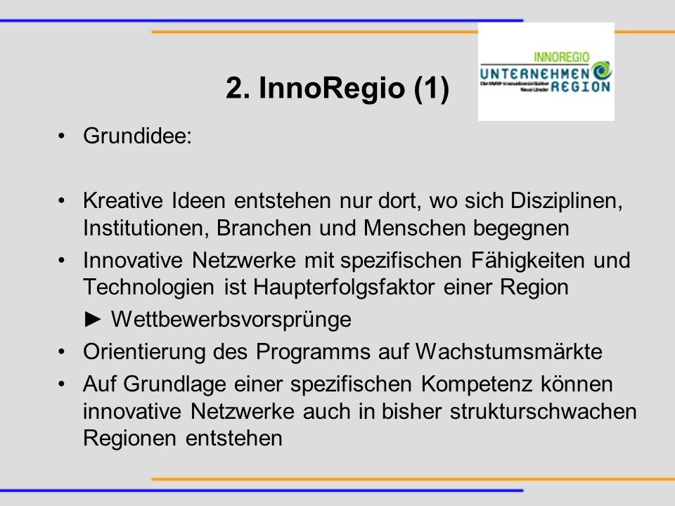 2. InnoRegio (1) Grundidee: