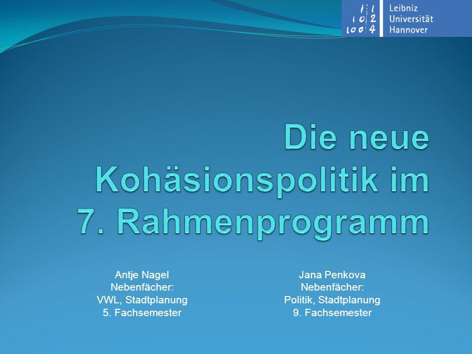 Die neue Kohäsionspolitik im 7. Rahmenprogramm