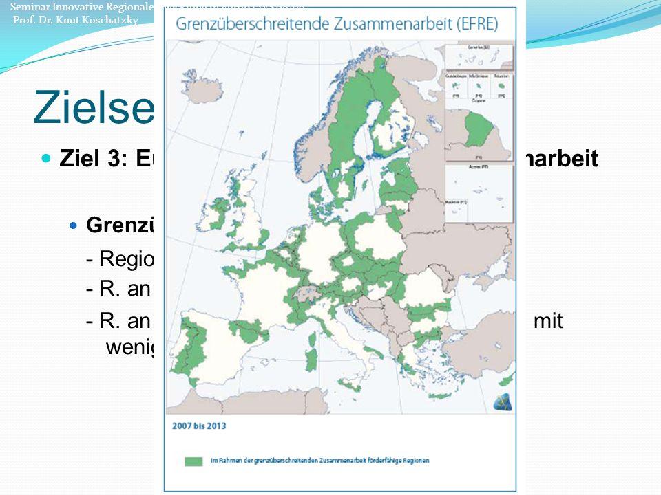 Zielsetzung Ziel 3: Europäische territoriale Zusammenarbeit