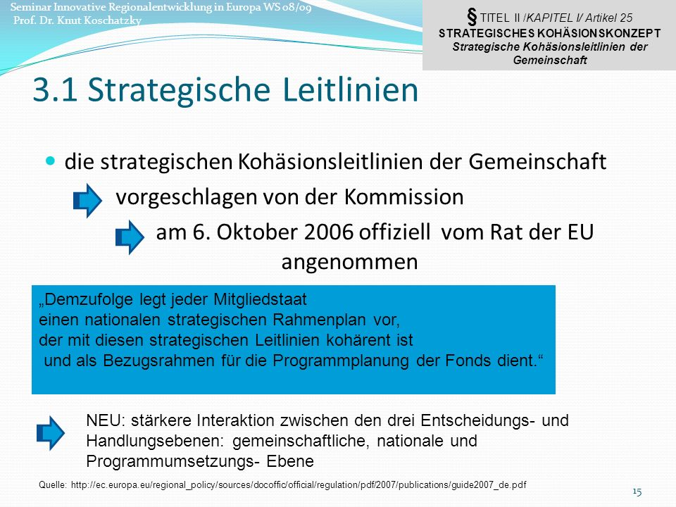 3.1 Strategische Leitlinien