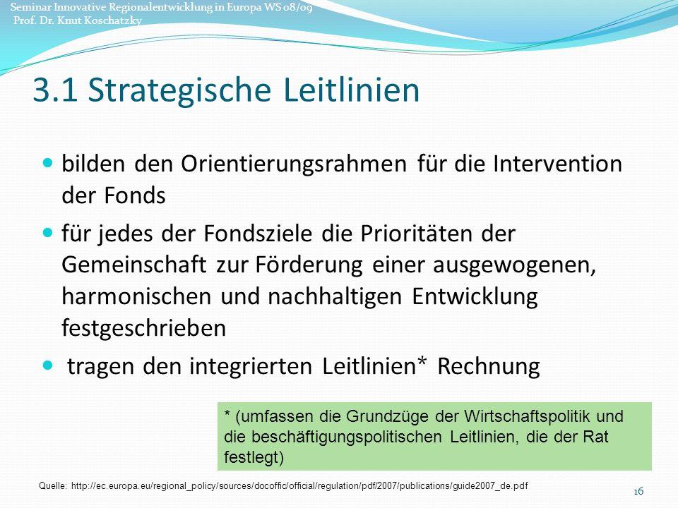 3.1 Strategische Leitlinien