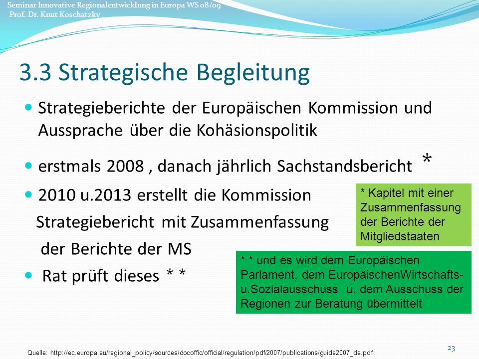 3.3 Strategische Begleitung