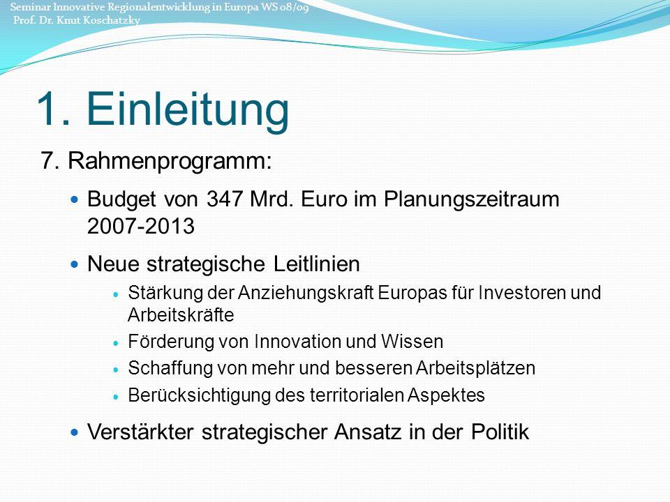 1. Einleitung 7. Rahmenprogramm: