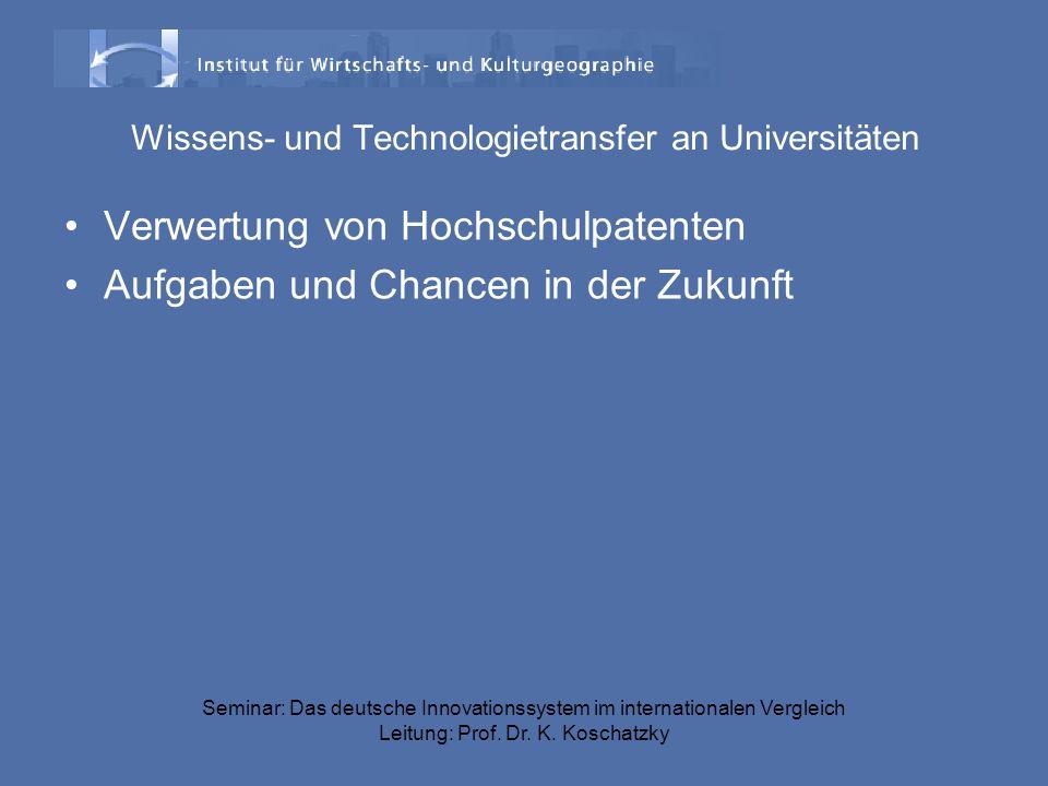 Wissens- und Technologietransfer an Universitäten