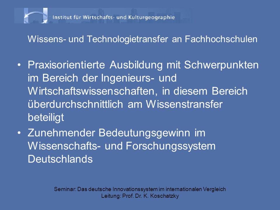 Wissens- und Technologietransfer an Fachhochschulen