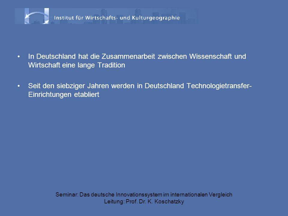 In Deutschland hat die Zusammenarbeit zwischen Wissenschaft und Wirtschaft eine lange Tradition