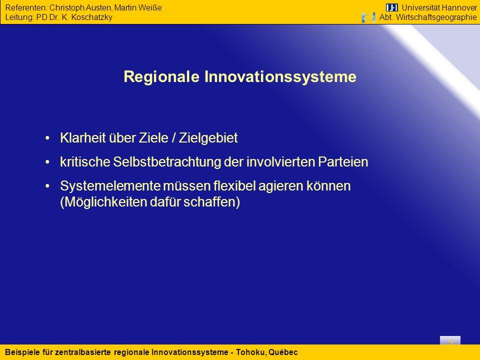 Regionale Innovationssysteme