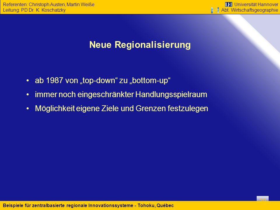 Neue Regionalisierung