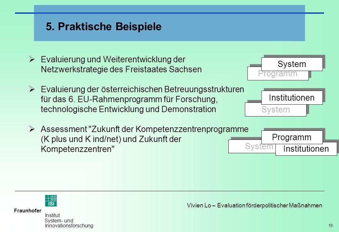 5. Praktische Beispiele Evaluierung und Weiterentwicklung der Netzwerkstrategie des Freistaates Sachsen.