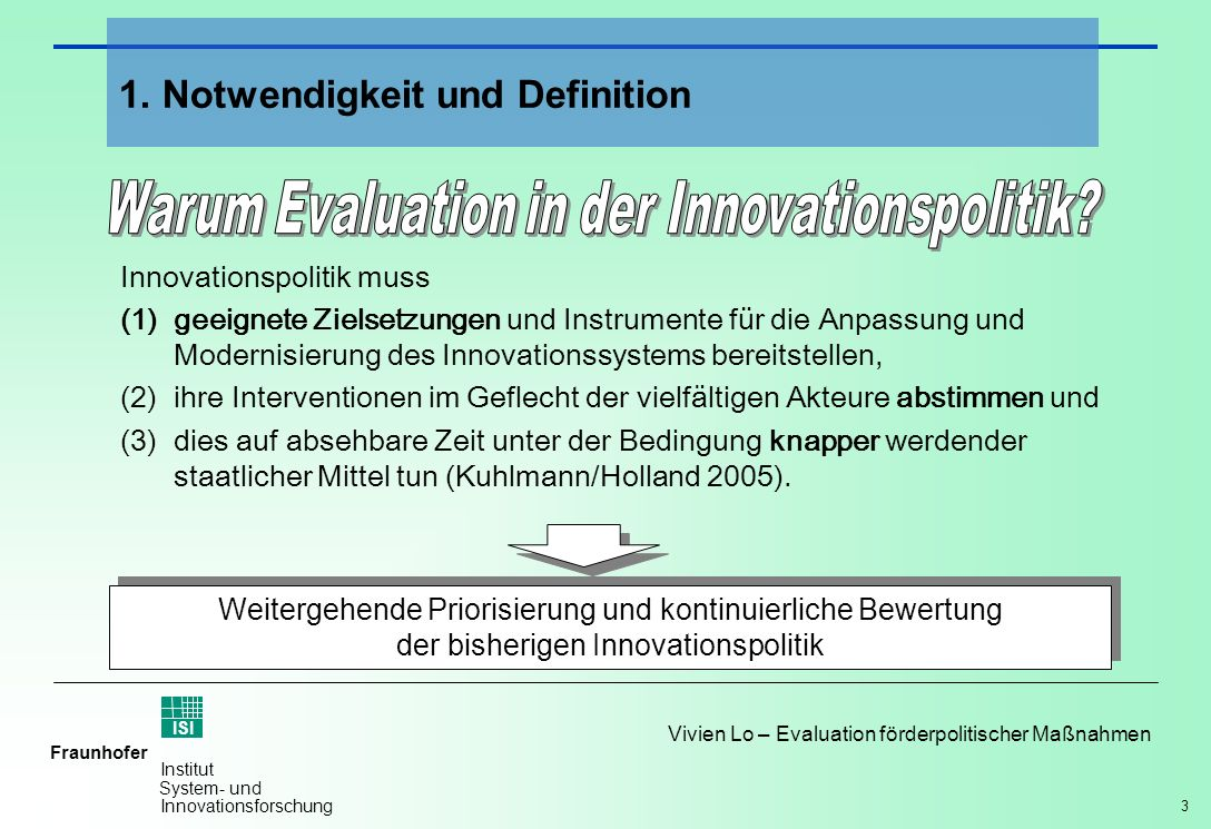 Warum Evaluation in der Innovationspolitik