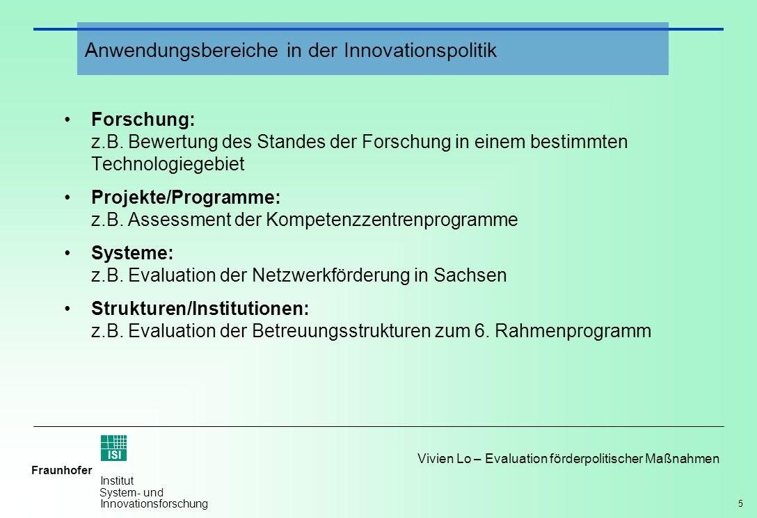 Anwendungsbereiche in der Innovationspolitik