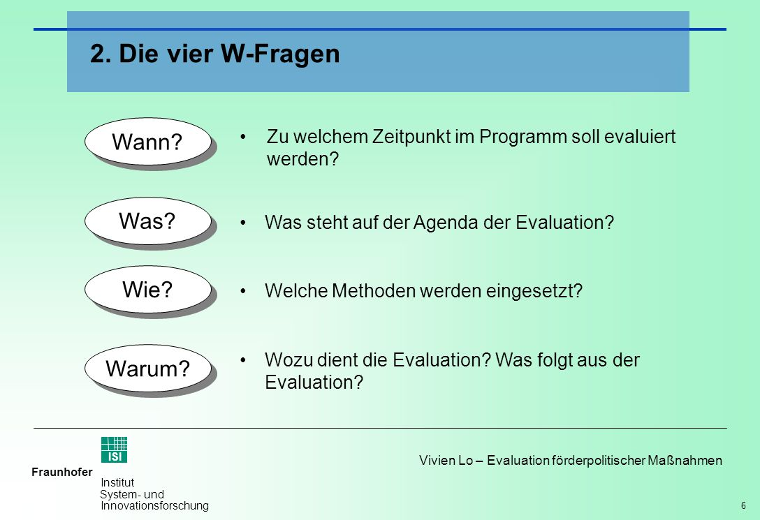 2. Die vier W-Fragen Wann Was Wie Warum