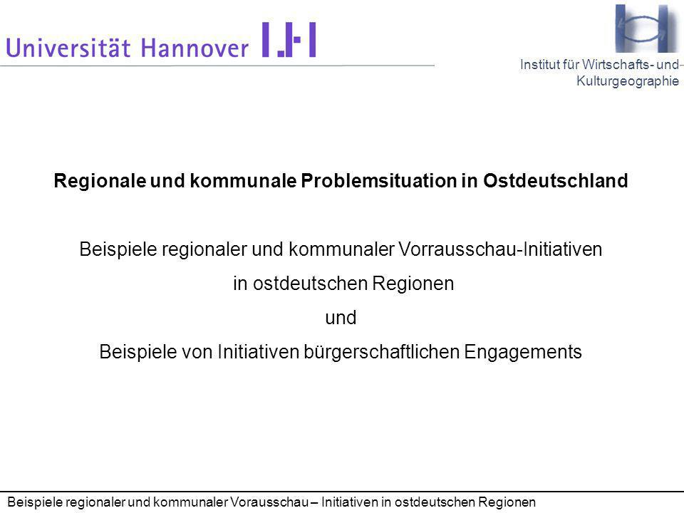 Regionale und kommunale Problemsituation in Ostdeutschland