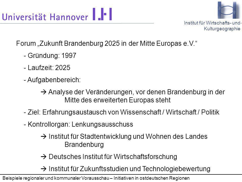 """Forum """"Zukunft Brandenburg 2025 in der Mitte Europas e.V."""