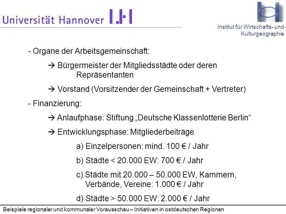 - Organe der Arbeitsgemeinschaft: