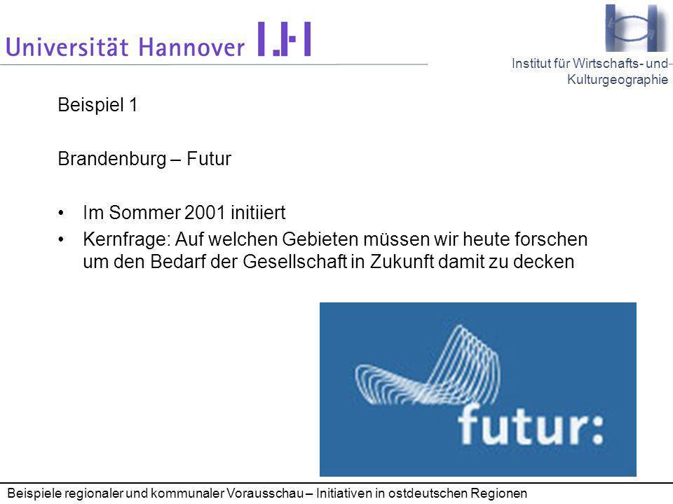 Beispiel 1 Brandenburg – Futur Im Sommer 2001 initiiert
