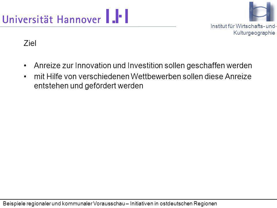 Anreize zur Innovation und Investition sollen geschaffen werden
