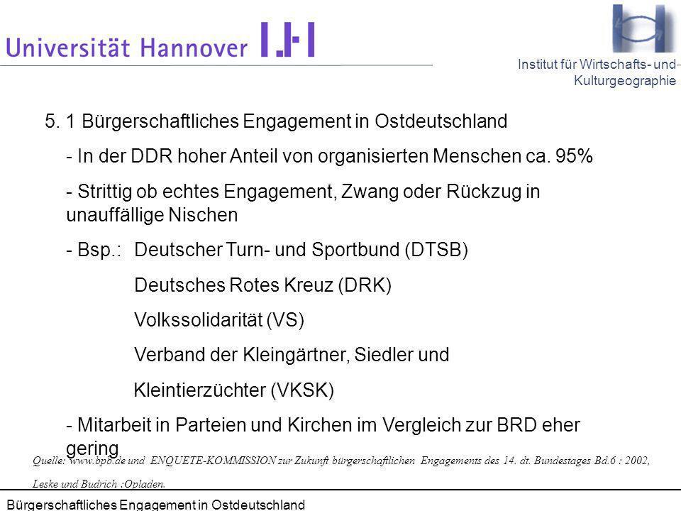 5. 1 Bürgerschaftliches Engagement in Ostdeutschland