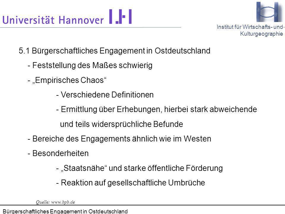 5.1 Bürgerschaftliches Engagement in Ostdeutschland
