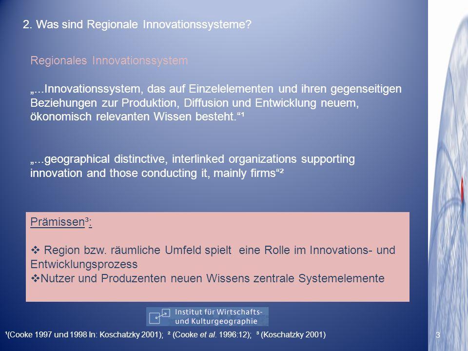 2. Was sind Regionale Innovationssysteme